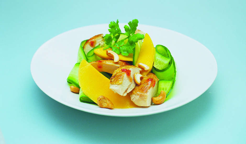 Barbecued-Chicken-and-Mango-Salad-with-Roasted-Cashews