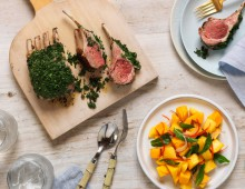 BBQ Rack Of Lamb with Mango Chilli Lime Salad