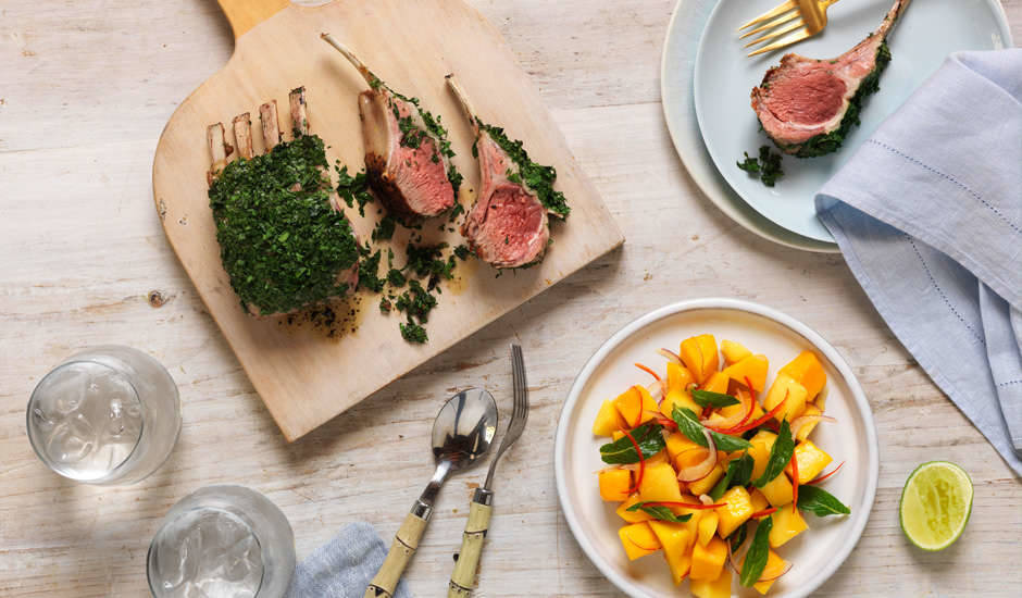 BBQ-Rack-Of-Lamb-with-Mango-Chilli-Lime-Salad