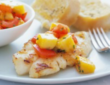 Fish With Mango And Tomato Salsa