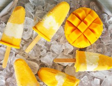 Rippled Mango Popsicles