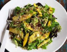 Mango Salad with seeds and quinoa