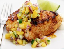 Mango Salsa With Grilled White Fish