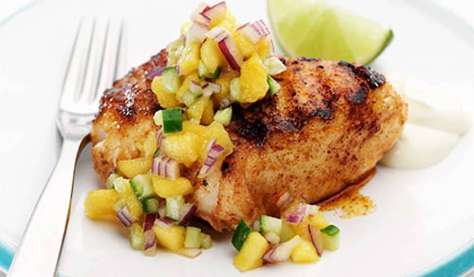Mango-Salsa-With-Grilled-White-Fish