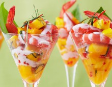 Prawn Martini With Mango Salsa