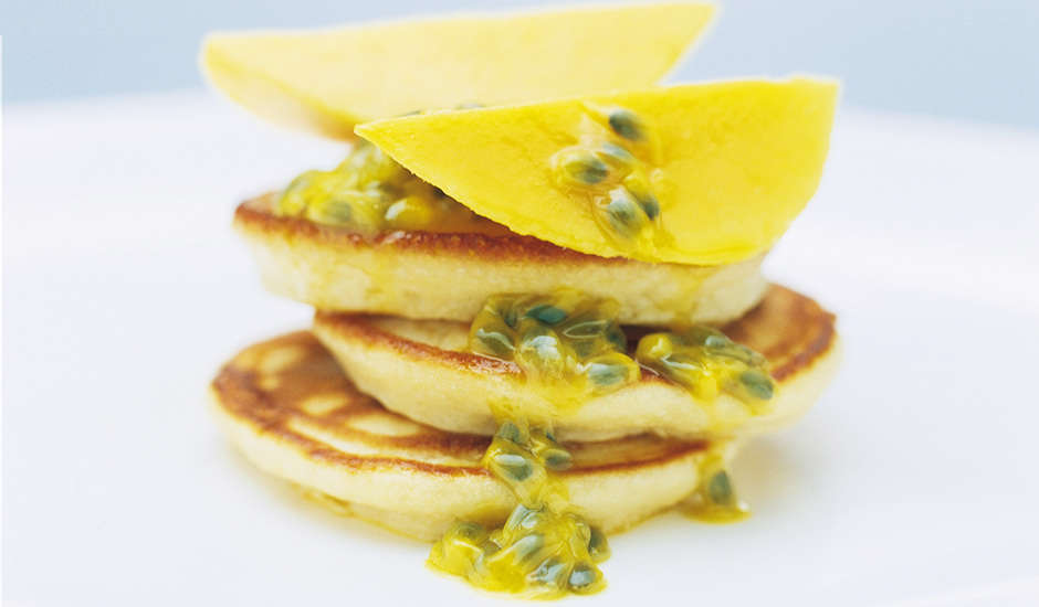 Vanilla-Coconut-Pancakes-With-Mango-And-Passionfruit
