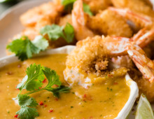 Coconut Shrimp / Prawns with Spicy Thai Mango Sauce