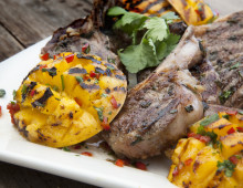 BBQ Mango Cheeks with Lamb