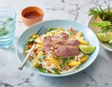 Pork, lemongrass and mango stir fry