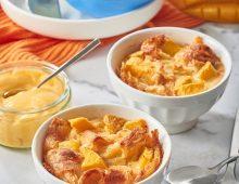Mango croissant puddings